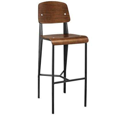Cabin 29 in. Walnut Bar Stool