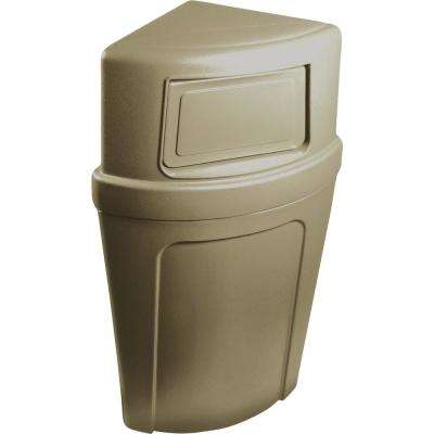21 Gal. Beige Corner Commercial Trash Can