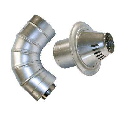 3 in. x 5 in. Stainless Steel Concentric Low Profile Termination Vent for Tankless Water Heaters