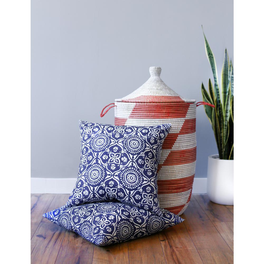 Adara 18 in. x 18 in. Ink Decorative Pillow (2-Pack)