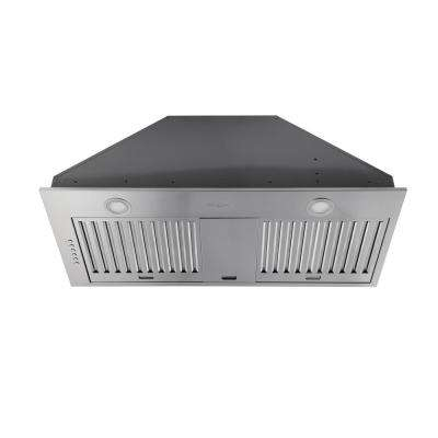 34 in. Ducted Built-In Range Hood with LED in Stainless Steel