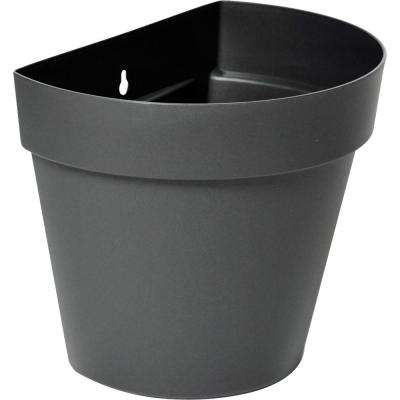Rio 11 in. x 9.25 in. Anthracite Plastic Wall Planter