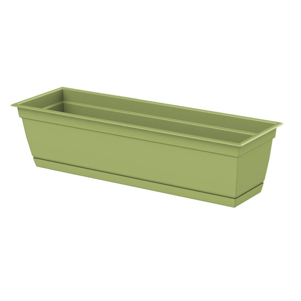 Dayton 24.0 in. x 6.70 in. Green Plastic Window Box