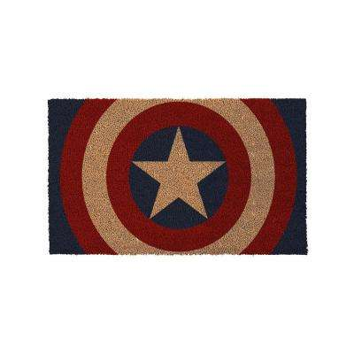 Captain America Shield 17 in. x 29 in. Door Mat