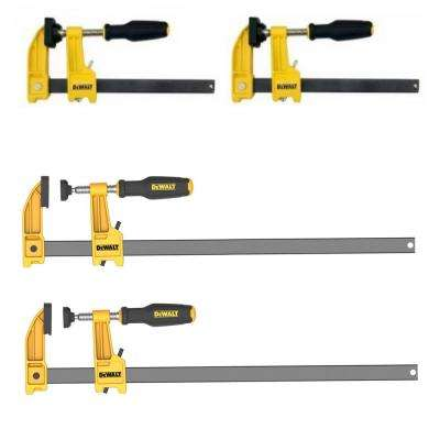 12 in. and 6 in. Bar Clamp Set (4-Pieces)