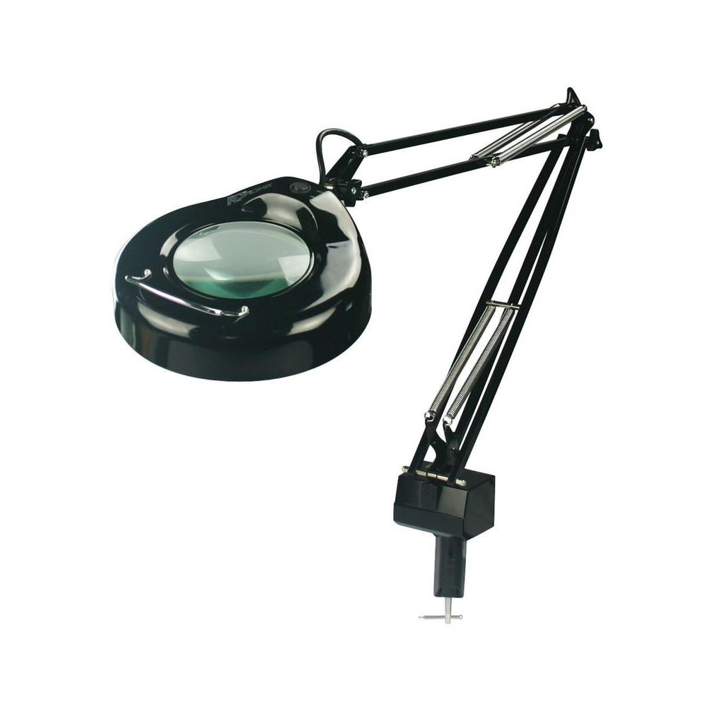 Illumine 1-Light Black Magnifier Lamp