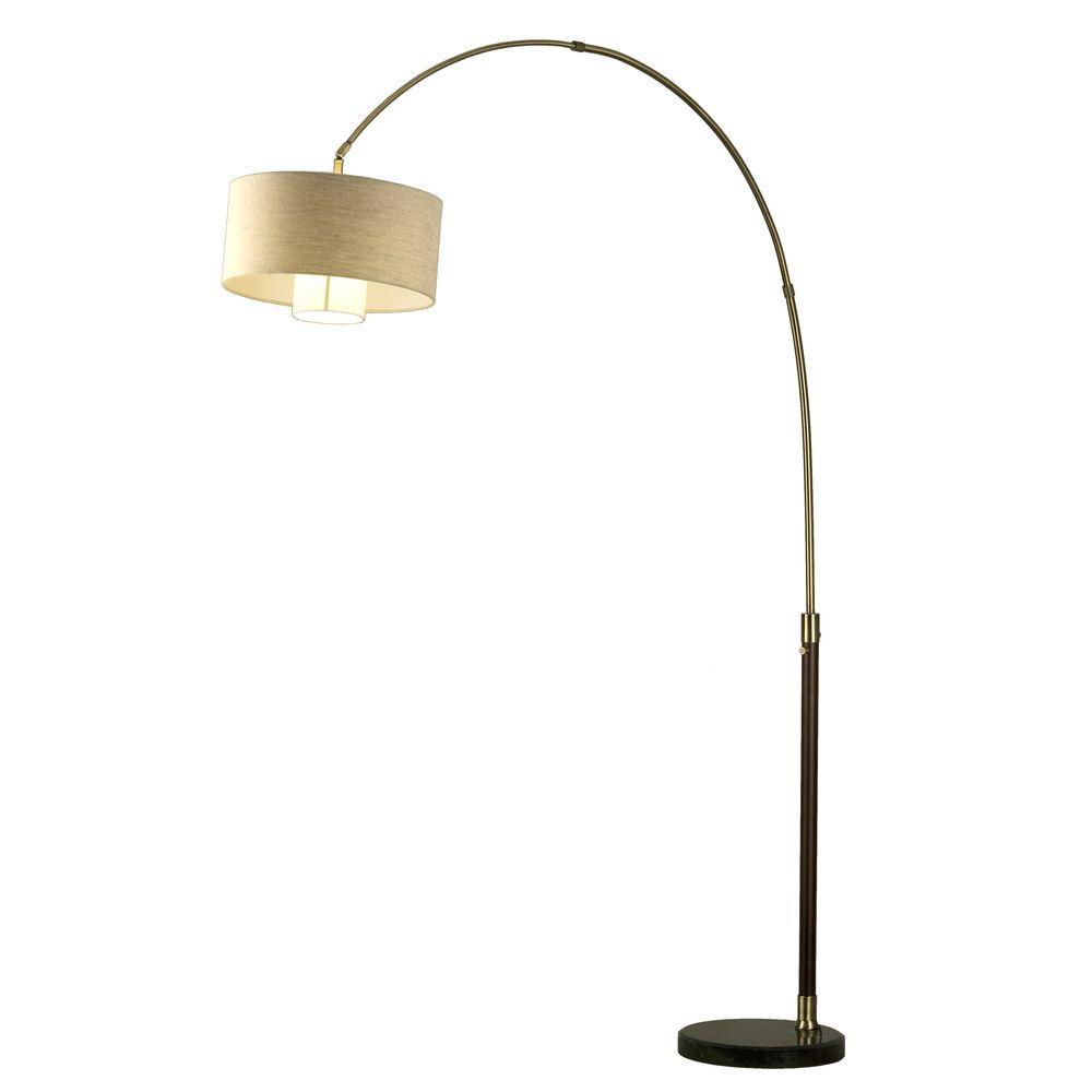 NOVA Astrulux 30.5 in. Dark Brown Incandescent Table Lamp