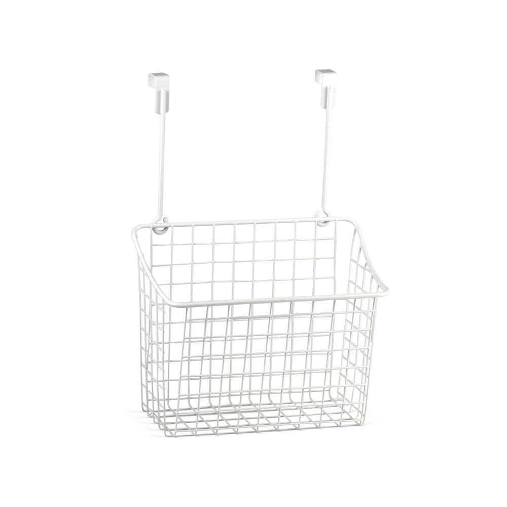 Grid 10.125 in. W x 6.625 in. D x 14 in. H Over the Cabinet Large Basket in White