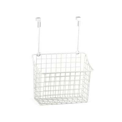 Grid 10.125 in. W x 6.625 in. D x 14 in. H Over the Cabinet Large Basket in White