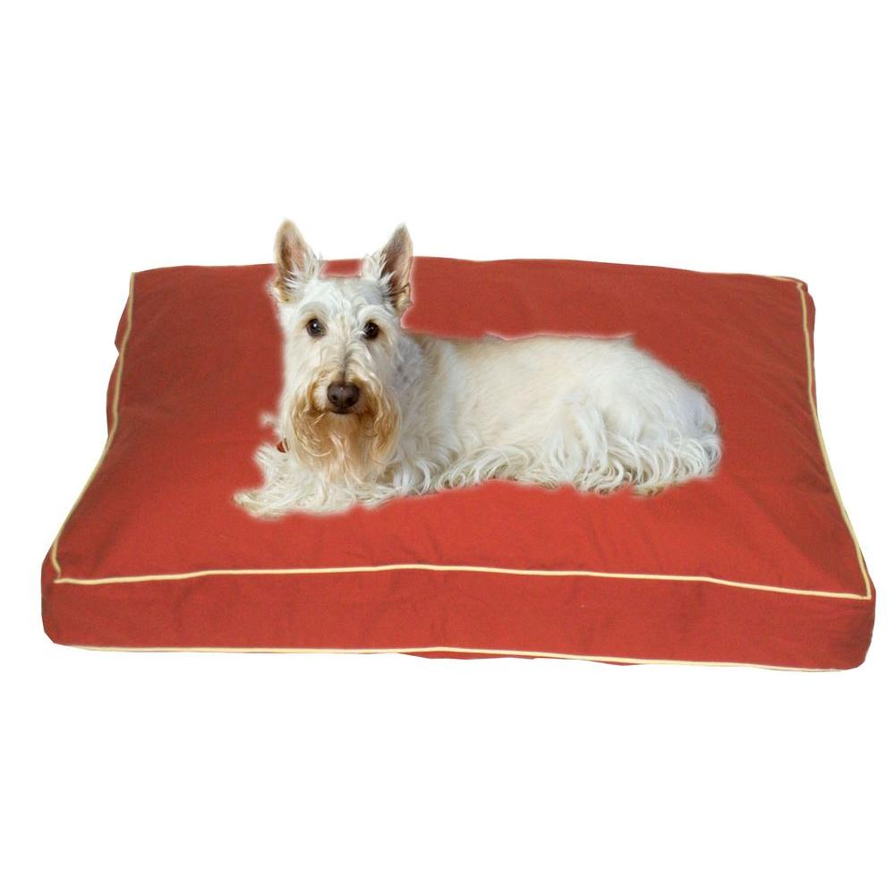 Small Classic Twill Rectangle Jamison Bed - Red