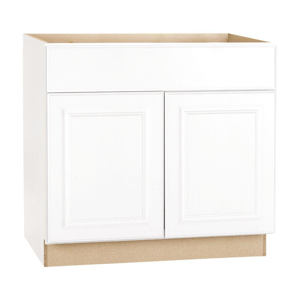 Hampton Bay Hampton Assembled 36x34.5x24 In. Base Kitchen Cabinet With  Ball Bearing