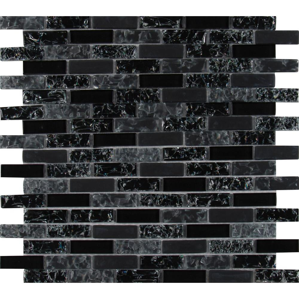 Glissen 12 in x 12 in x 6 mm glass mesh mounted mosaic for Installing glass tile with mesh back