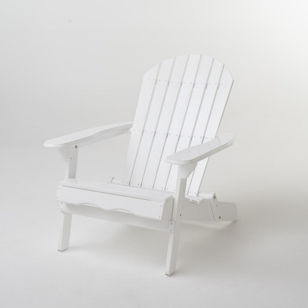 Admirable Noble House Hanlee White Folding Wood Adirondack Chair Bralicious Painted Fabric Chair Ideas Braliciousco