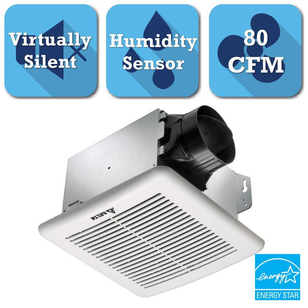 GreenBuilder G2 Series 80 CFM Ceiling Bathroom Exhaust Fan with Adjustable