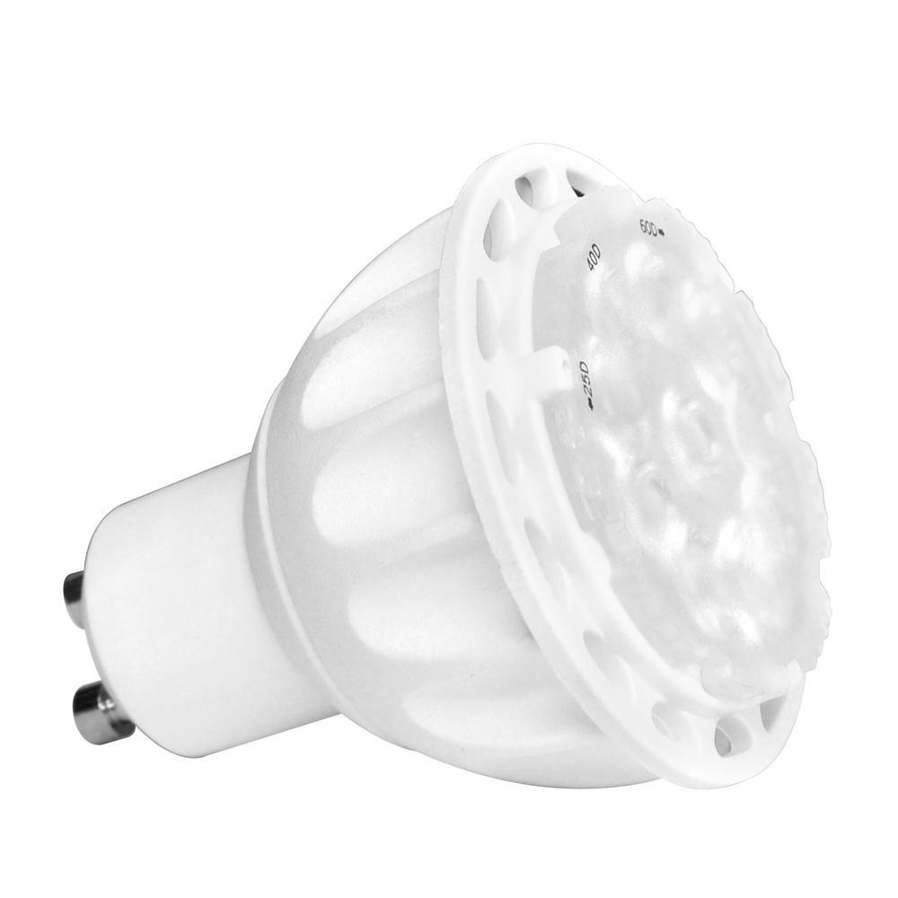 35-Watt Equivalent MR16 3-in-1 Adjustable Beam LED GU10 Dimmable 120-Volt 30,000 Hours Light Bulb Soft White (2-Pack)