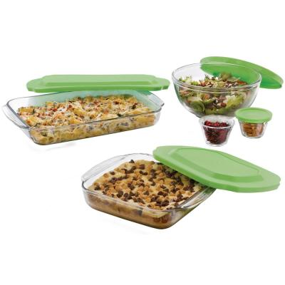 Baker's Basics 14-Piece Glass Bake Set with Lids