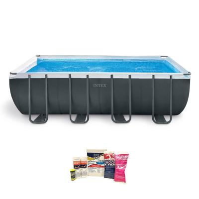 Ultra 18 ft. XTR Frame Pool Set with Pump and Chemical Cleaning Kit