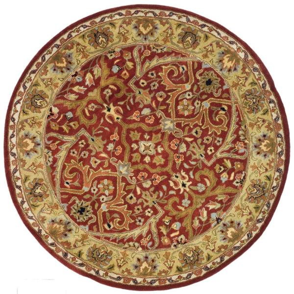 Red Gold 6 Ft X Round Area Rug