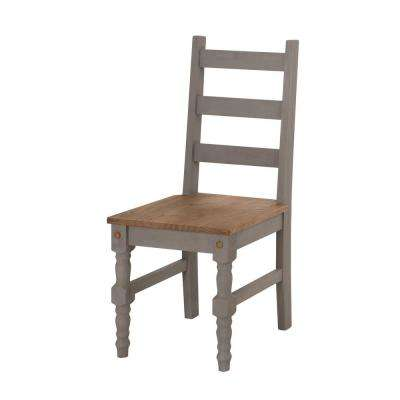 Jay 2-Piece Gray Wash Solid Wood Dining Chair