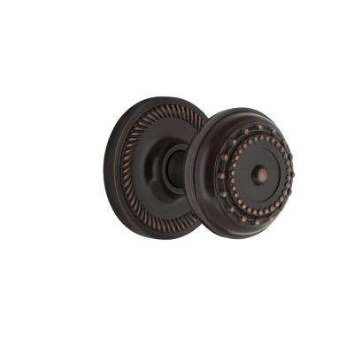 Rope Rosette 2-3/4 in. Backset Timeless Bronze Passage Meadows Door Knob