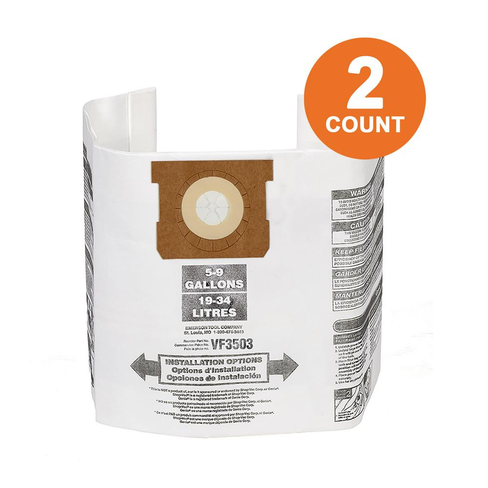 91f3f4b43904 RIDGID High-Efficiency Size B Dust Bags for 5 Gal. to 10 Gal. RIDGID  Wet/Dry Vacs (2-Pack)