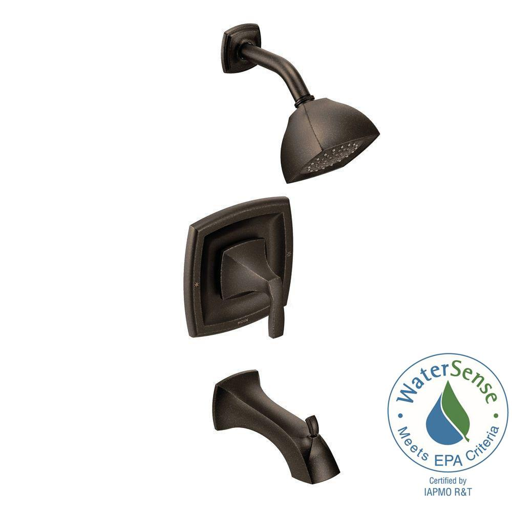 MOEN Voss Posi-Temp 1-Handle Tub and Shower Trim Kit in Oil Rubbed Bronze (Valve Not Included)