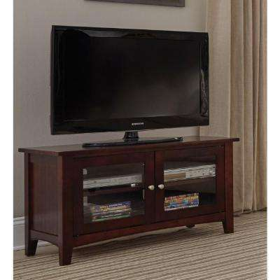 Shaker Cottage Espresso Storage Entertainment Center