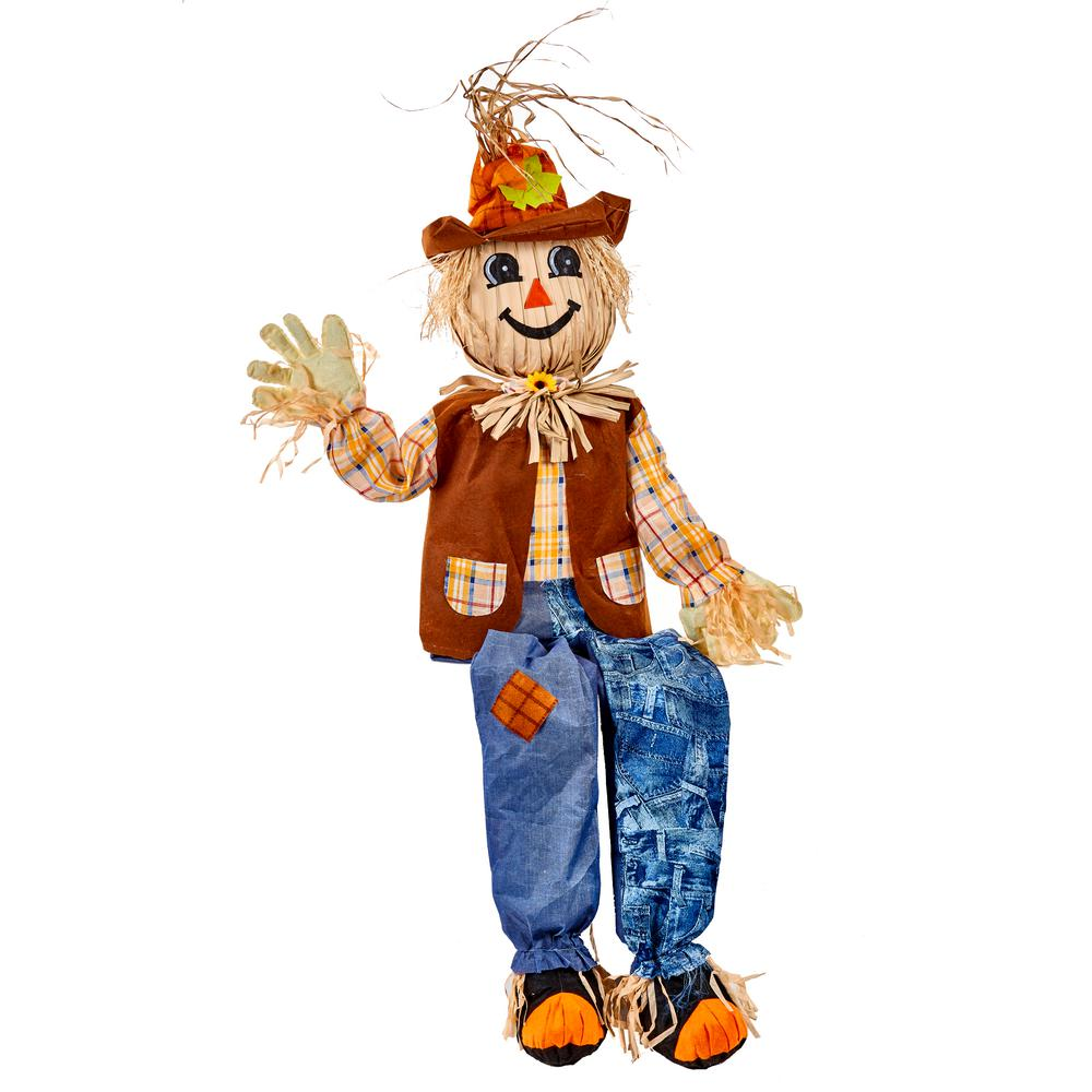 Worth Imports 60 in. Sitting Scarecrow