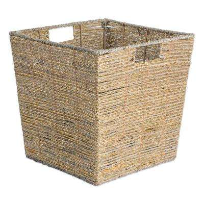 Trapezoidal Woven Seagrass Decorative Bin