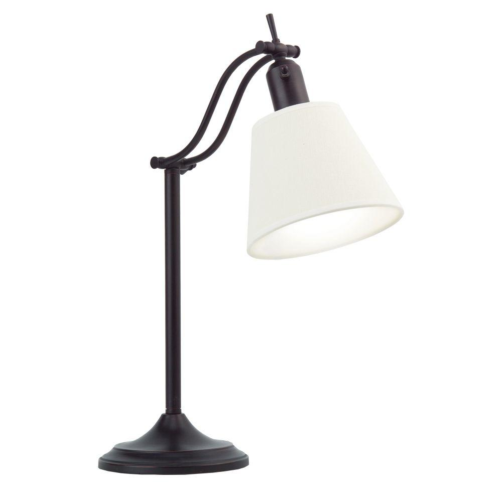 OttLite 16 in. Antiqued Bronze Desk Lamp