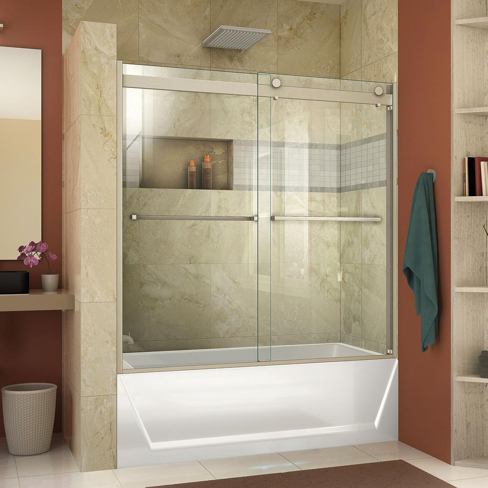 Dreamline Essence H 60 In X 60 In Frameless Bypass Tub