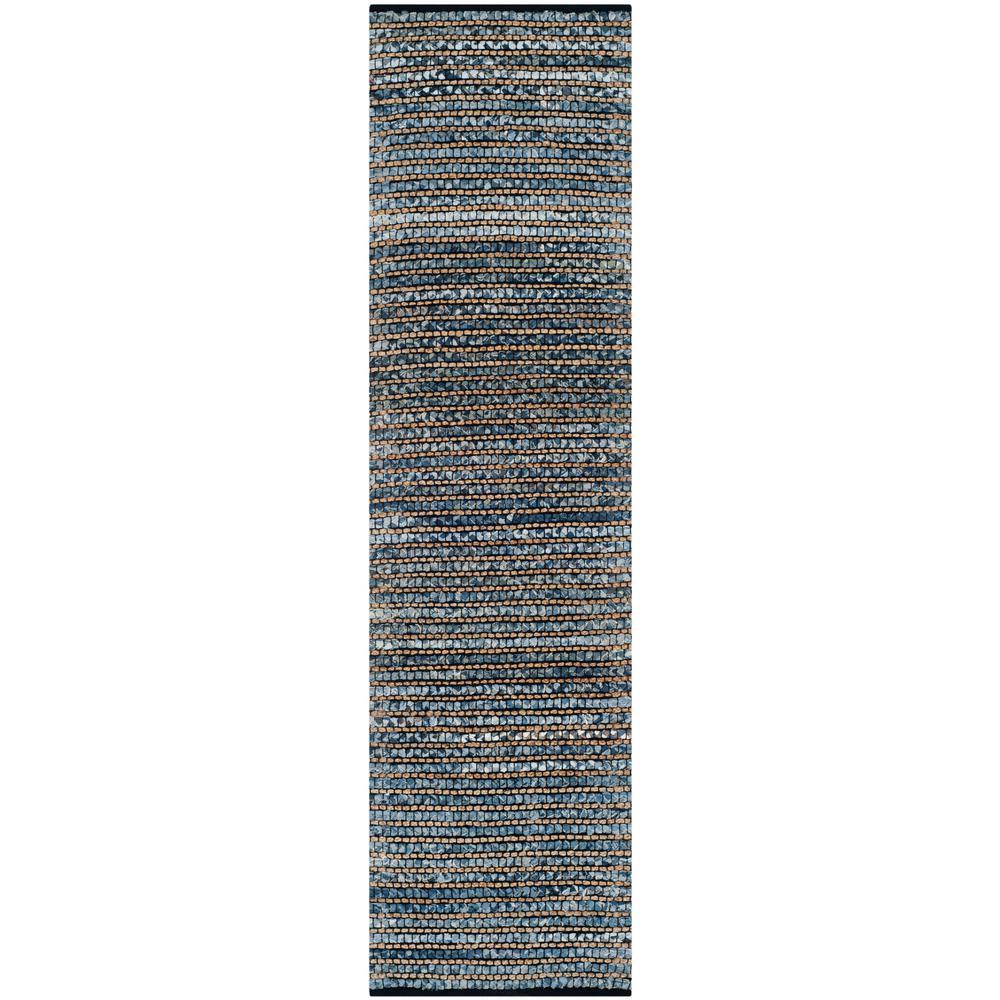 Cape Cod Blue 2 ft. x 10 ft. Runner Rug