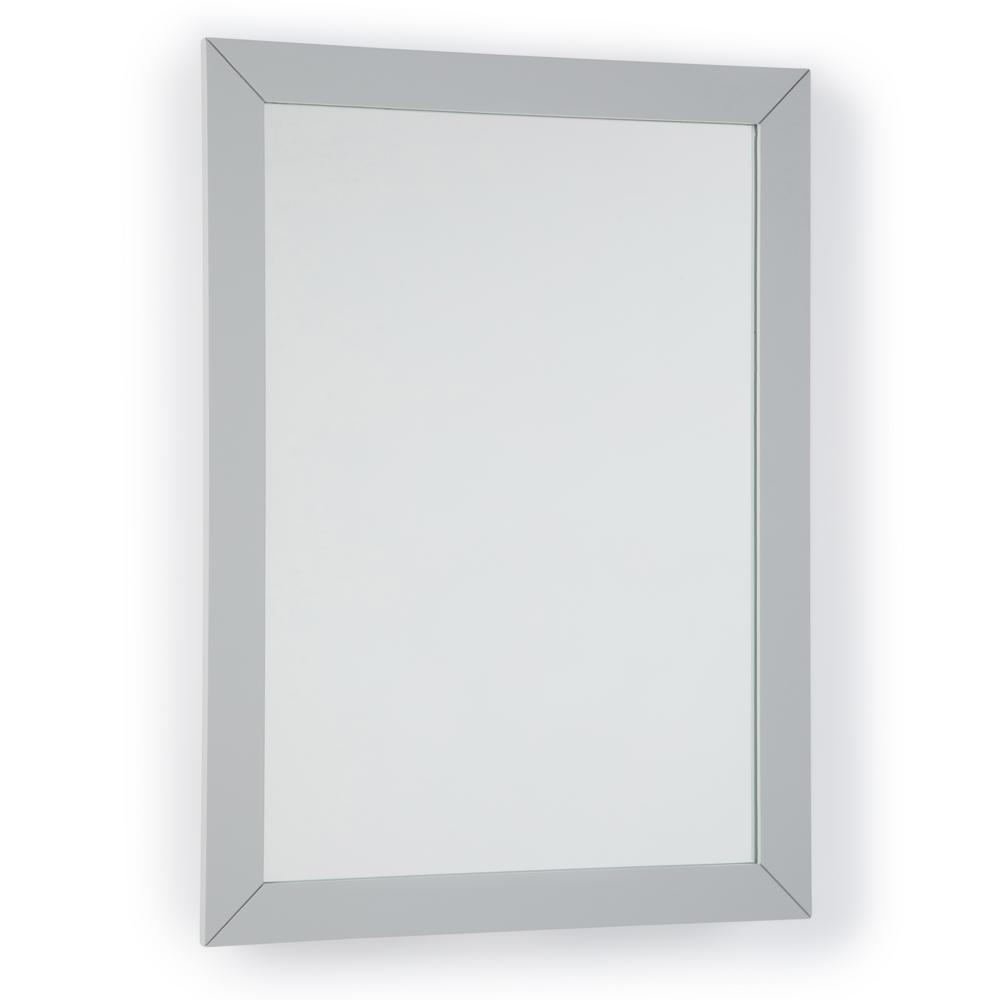 Simpli Home Chelsea 22 in. x 30 in. Bath Vanity Decor Mirror in Warm Grey