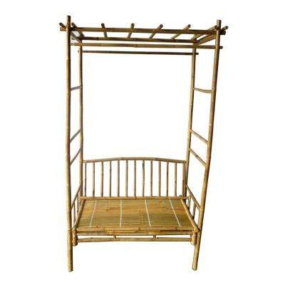 84 in. H x 54 in. W Seated Bamboo Arbor