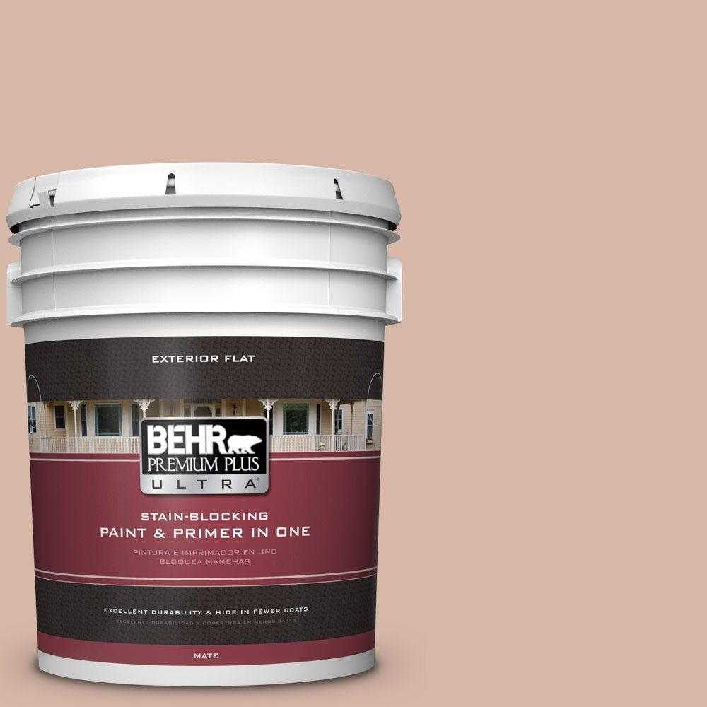 BEHR Premium Plus Ultra 5-gal. #S190-3 Sedona Pink Flat Exterior Paint