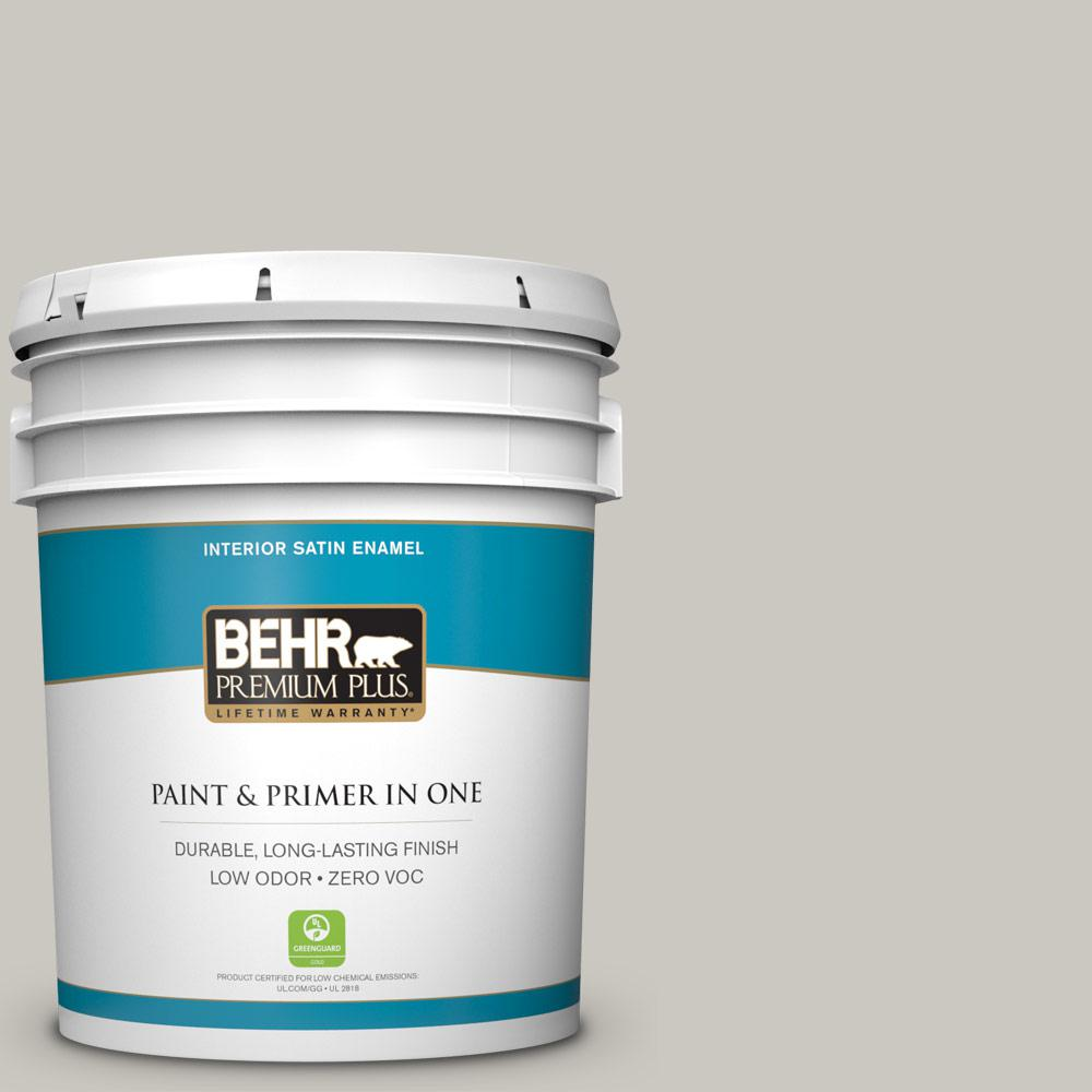 5 gal. #PPU24-12 Whitewash Oak Zero VOC Satin Enamel Interior Paint