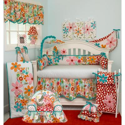 17 in. L Cotton Lizzie Valance in Multi Colored Floral