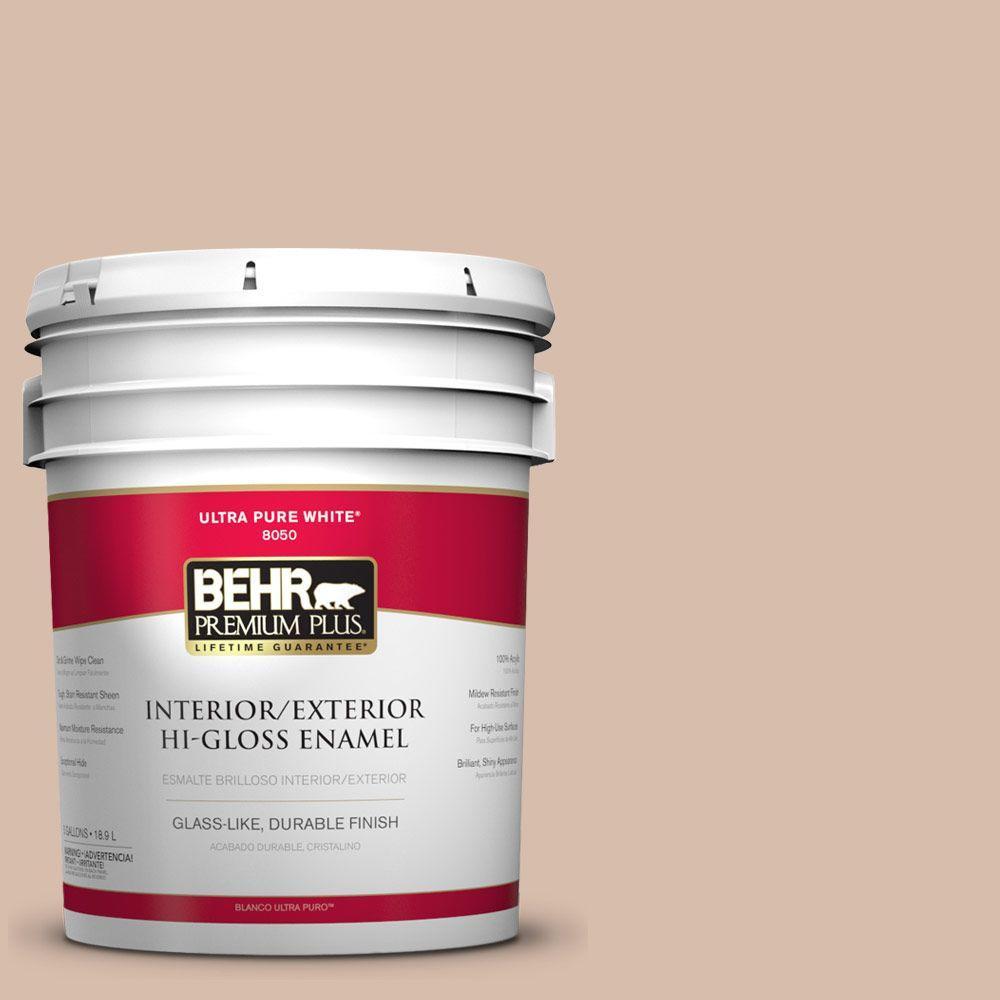 BEHR Premium Plus 5-gal. #ICC-42 Comforting Hi-Gloss Enamel Interior/Exterior Paint
