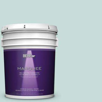 5 gal. #MQ3-20 Whipped Mint Eggshell Enamel One-Coat Hide Interior Paint and Primer in One