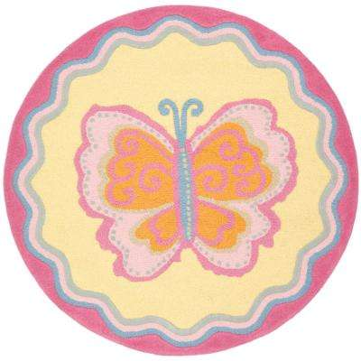 Kids Multi/Pink 4 ft. x 4 ft. Round Area Rug