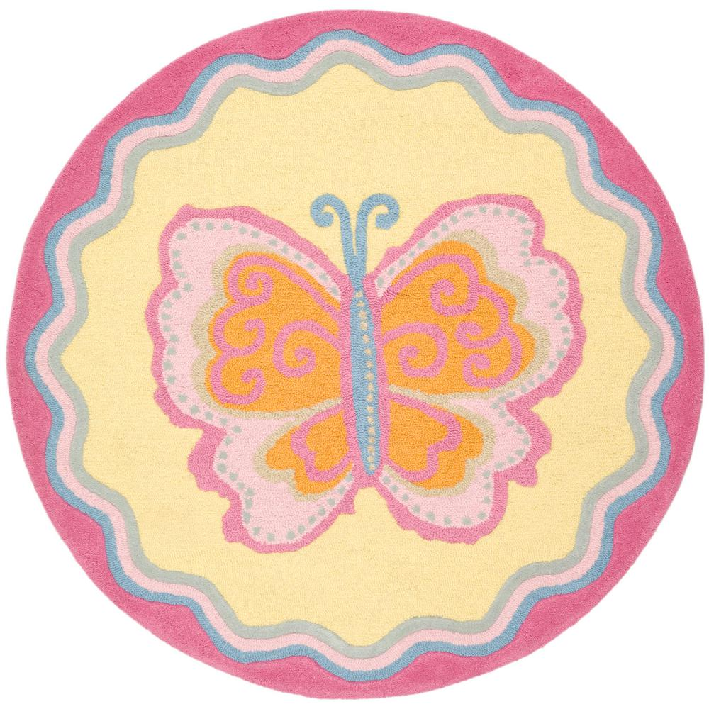 Safavieh Kids Multi/Pink 6 Ft. X 6 Ft. Round Area Rug