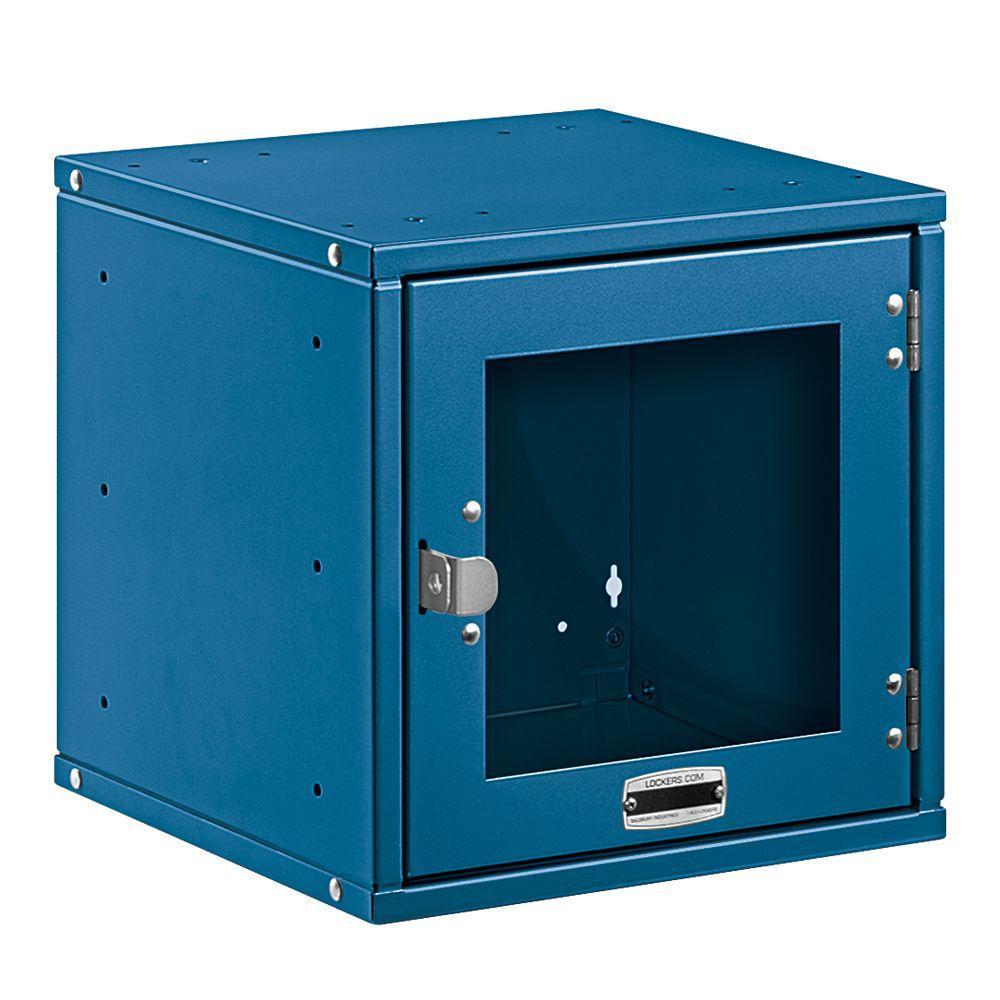 Salsbury Industries 80000 Series 12 in. W x 12 in. H x 12 in. D Window Door Metal Modular Locker in Blue