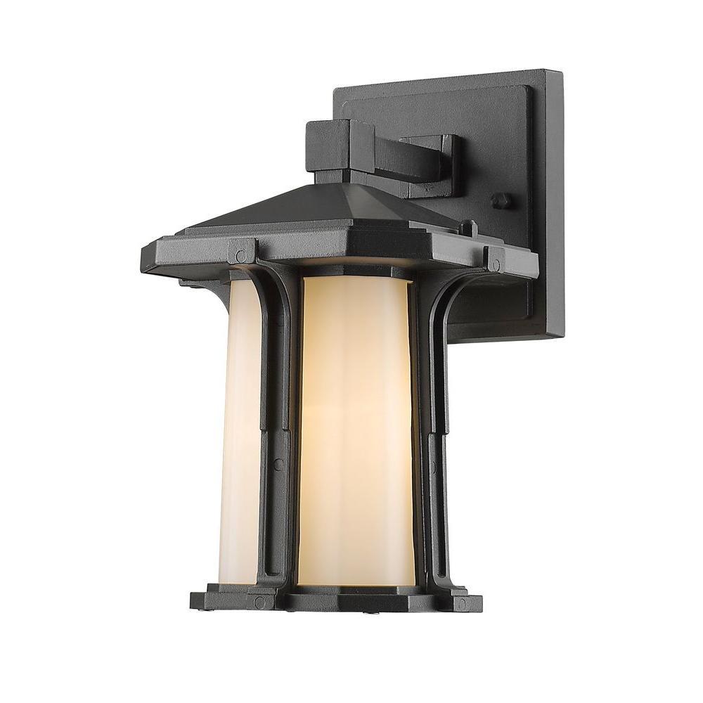 Joslin 1-Light Black Outdoor Sconce