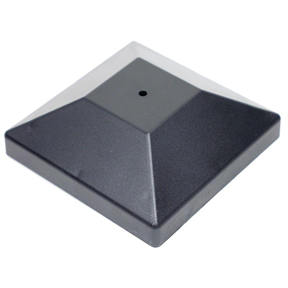 Simpson Strong-Tie DPPC Black Decorative Post Cover for 4x4 Nominal Post