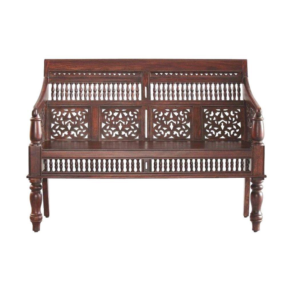 Delicieux Home Decorators Collection Maharaja Walnut Bench
