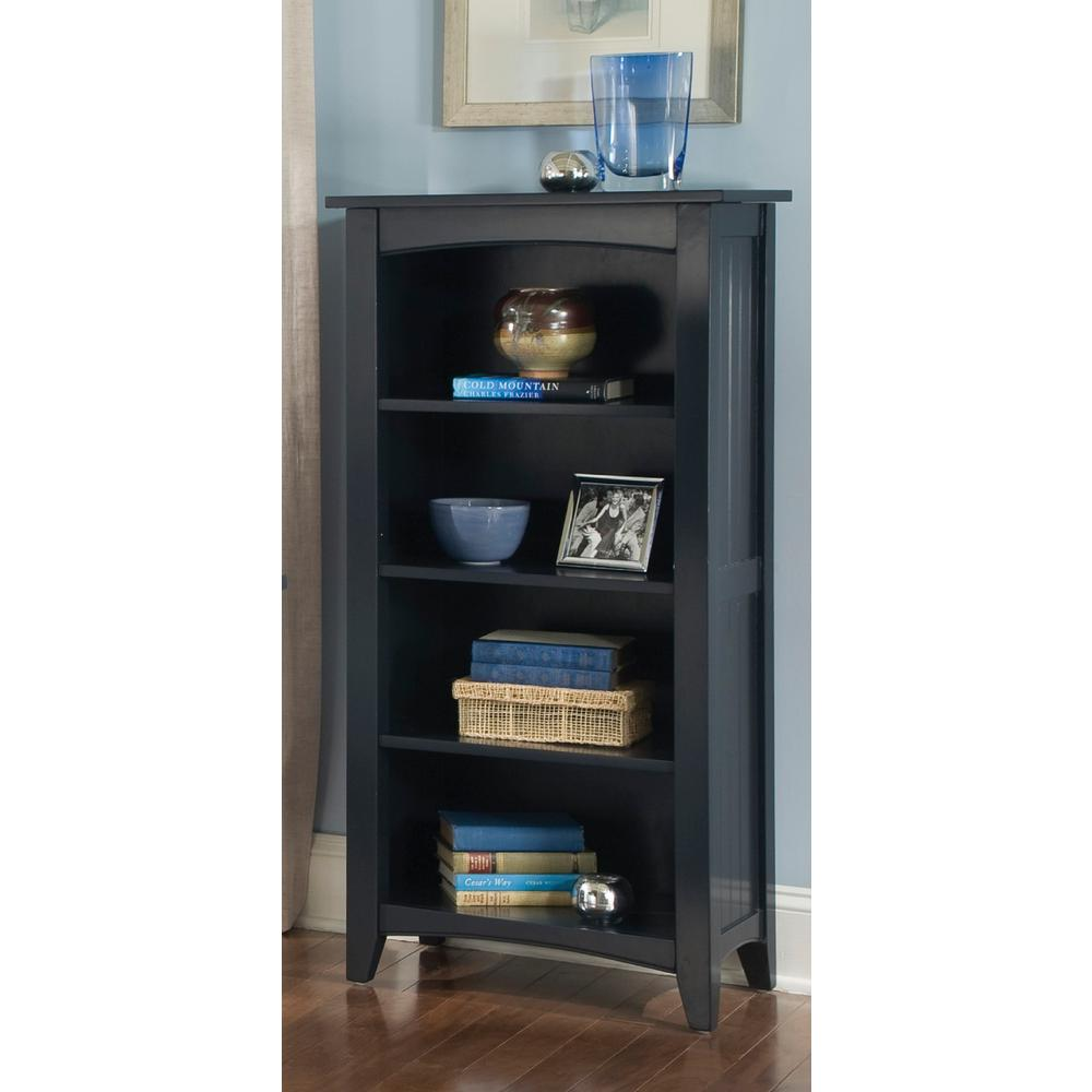 Alaterre Furniture Shaker Cottage Black Open Bookcase
