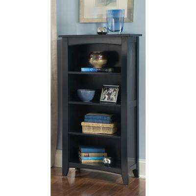 Shaker Cottage Charcoal Gray Open Bookcase