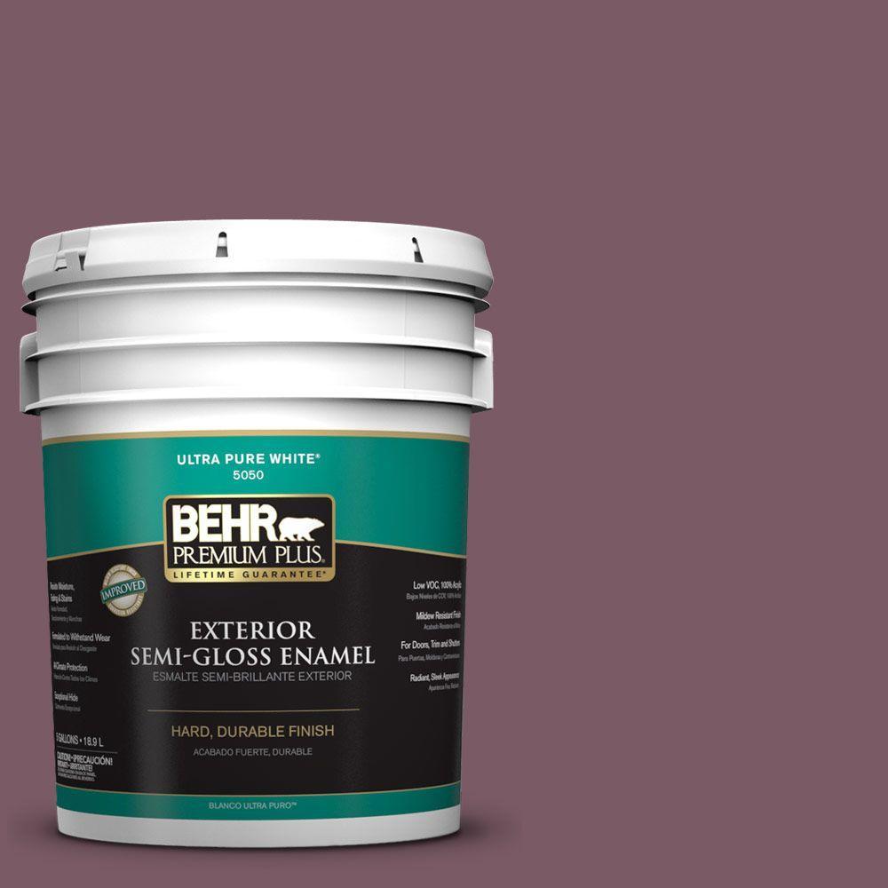 BEHR Premium Plus 5-gal. #ICC-84 Simply Elegant Semi-Gloss Enamel Exterior Paint