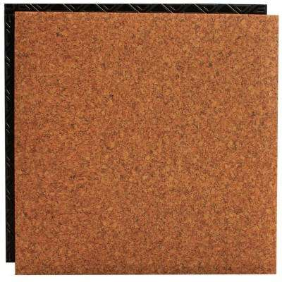 Cork 18.5 in. x 18.5 in. Interlocking Waterproof Vinyl Tile with Built-In Underlayment (19.04 sq. ft. / case)
