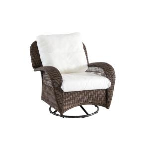 Gentil Beacon Park Swivel Wicker Outdoor Lounge Chair With Cushions Included,  Choose Your Own Color